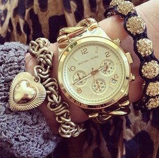 美國Outlet正品代購 MichaelKors MK 玳瑁三環 手鍊 手錶 腕錶 MK3131 5