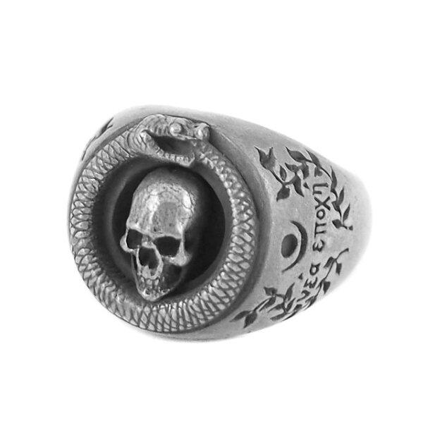 【海外訂購】【MAD CULT】銜尾蛇骷髏戒指 - 純銀(MAD-R-12)