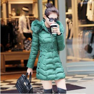 【鳶尾紫服飾館】羽絨服 韓版甜美外套 冬裝 修身連帽大衣 斗篷式外套 現貨