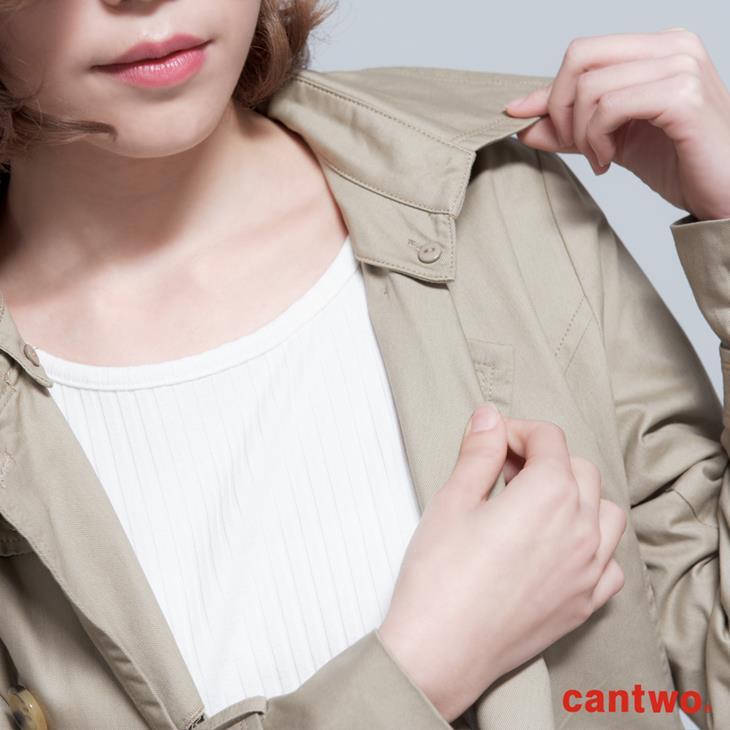cantwo雙排釦兩穿式風衣外套(共二色) 4