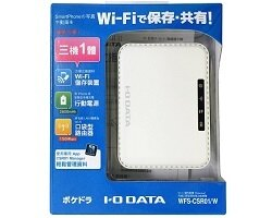 I-O DATA POKEDORA WFS-CSR01 行動充電無線分享雲 白色款