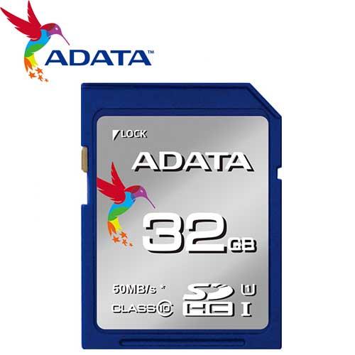 ADATA 威剛 32GB 50MB/s SDHC SD UHS-I C10 記憶卡