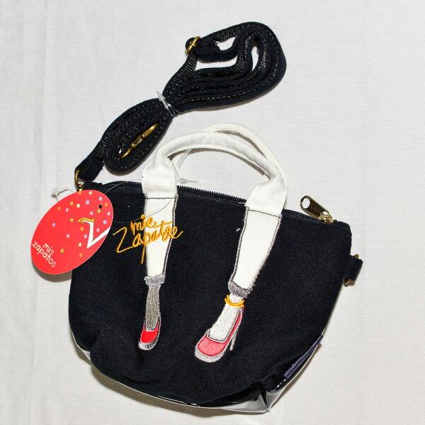 Mis Zapatos 黑色 可愛手機側背包, 手機包, 錢包, 證件包 日本帶回正版品