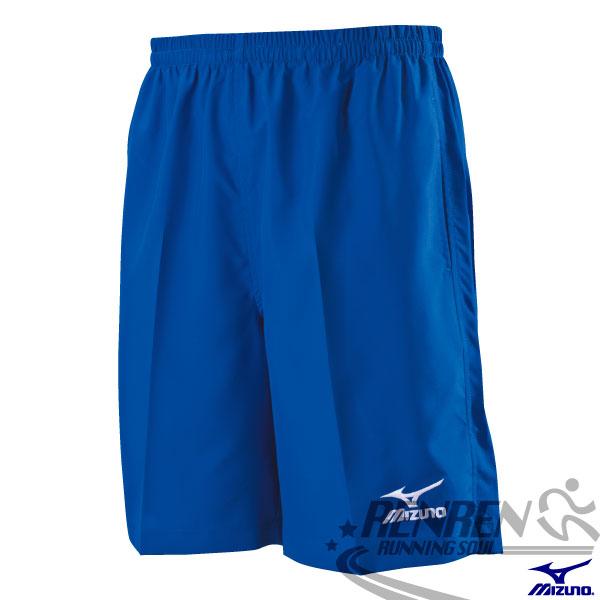 MIZUNO 美津濃 男路跑褲(法國藍) 背部口袋運動短褲 5分長慢跑褲