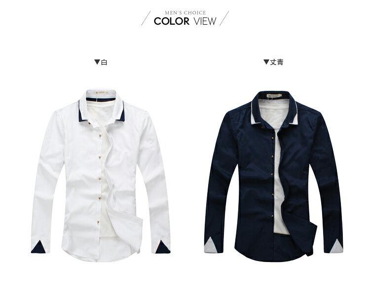 ☆BOY-2☆【PPK87010】時尚質感拼接造型襯衫 1