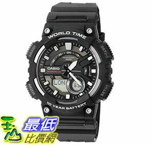 [美國直購] 手錶 Casio Mens AEQ110W-1AV Analog and Digital Quartz Black Watch