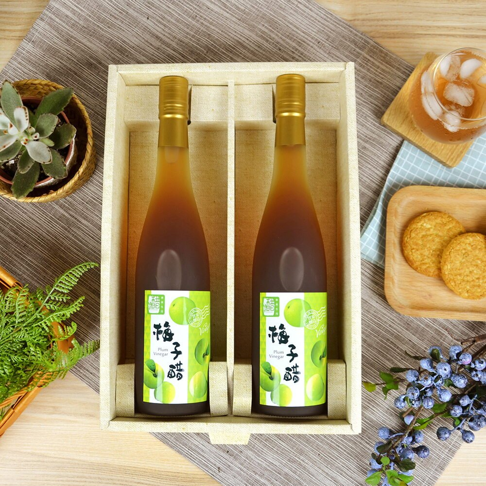 【醋桶子】健康果醋禮盒-梅子醋1組免運(600mlx2瓶/組) 1
