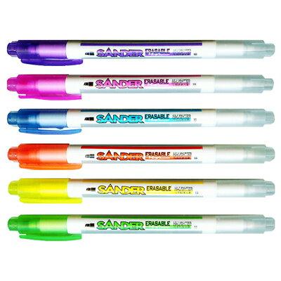 【文具通】SANDER 聖得 PL-1600EH可擦螢光筆 藍 A1040450