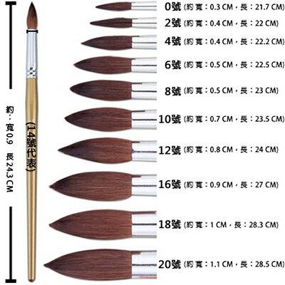 【文具通】Pentel 飛龍 ZBS1-4 水彩畫筆 圓頭型 A1060014