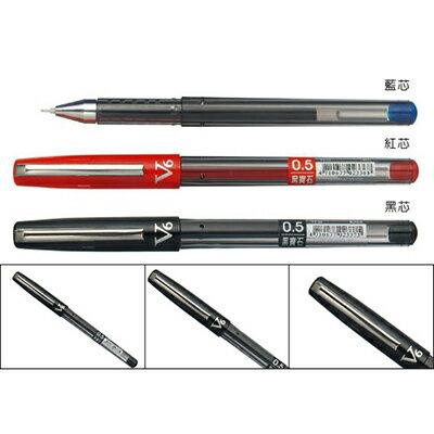 【文具通】SKB V6鋼珠筆0.5 紅 A1100411