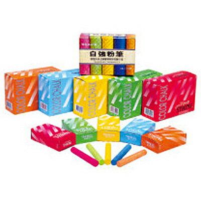 【文具通】STRONG 自強 彩色粉筆5色裝 A1130002