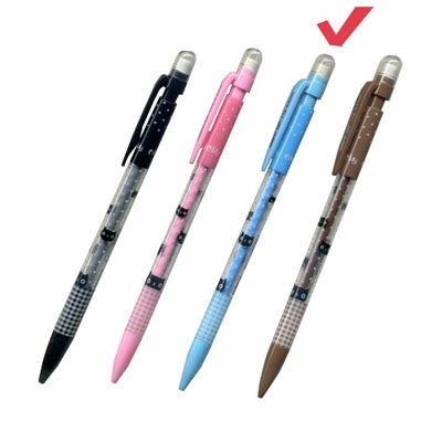 【文具通】TEMPO節奏MP-112 0.5點點貓咪自動鉛筆.藍桿 A1281088