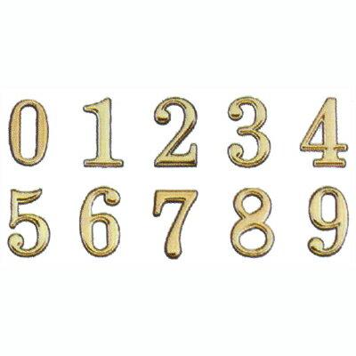 【文具通】DIY 圓弧燙金數字標示牌 可貼 8cm AA011024