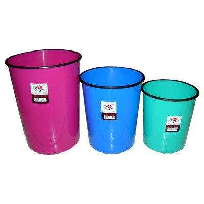【文具通】圓型垃圾筒[小]直徑22.5x22cm DH000003