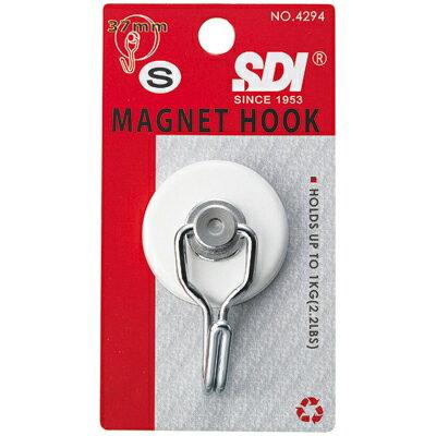 【文具通】SDI 順德 4294磁鐵掛勾-小(白)耐重1kg I1110064