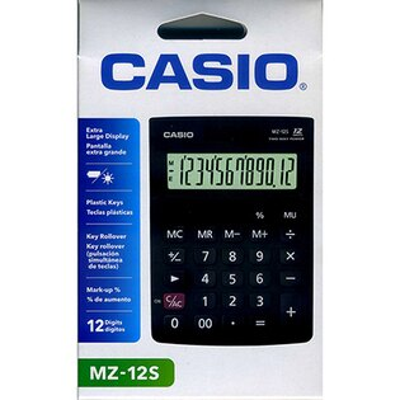 【文具通】CASIO MZ-12S計算機12位10*14cm L5140181