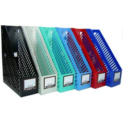 【文具通】文具通3160一體成型雜誌箱[水藍] N1010111