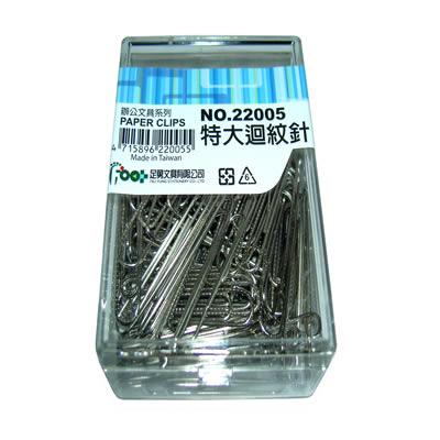 【文具通】足勇22005特大紋迴紋針(50mm) P2060040