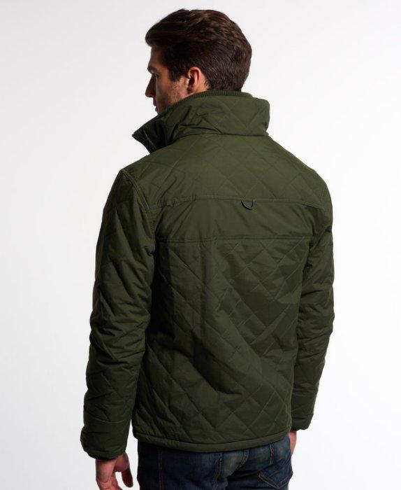 [男款] 英國代購 極度乾燥 Superdry Quilted Arctic Windcheater 男士 絎縫防風衣夾克 森林綠 3