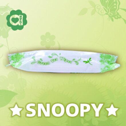☆Snoopy☆ 史努比 綠茶香氛柔濕巾/濕紙巾 20抽【Aguchi亞古奇】 1