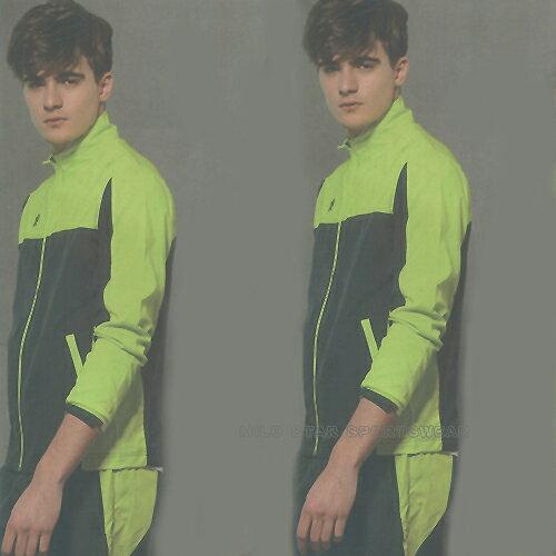 MILD STAR 男女平織網裡運動服套裝[全套]-螢綠/深灰#JW606504-PS601907 0