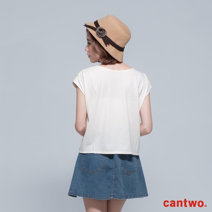 cantwo鏤空雙色條紋蕾絲上衣(共三色) 3