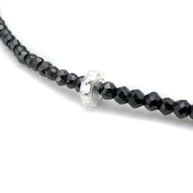 【現貨商品】【STARLINGEAR】復古風格黑尖晶石串珠純銀骷髏項鍊(STN040M-SV-2  0639260000) 3