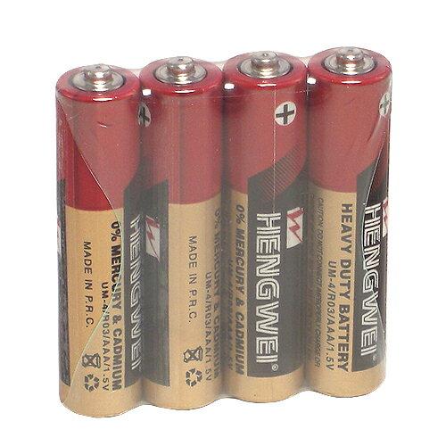 [漫朵拉情趣用品]【HENGWEI】4號環保碳鋅電池(4顆入) NO.580001-2