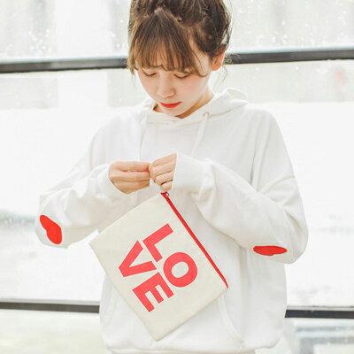 ◆快速出貨◆刷毛T恤 連帽刷毛 情侶T恤 暖暖刷毛 MIT台灣製.連帽-雙手愛心【YS0431】可單買.艾咪E舖 1