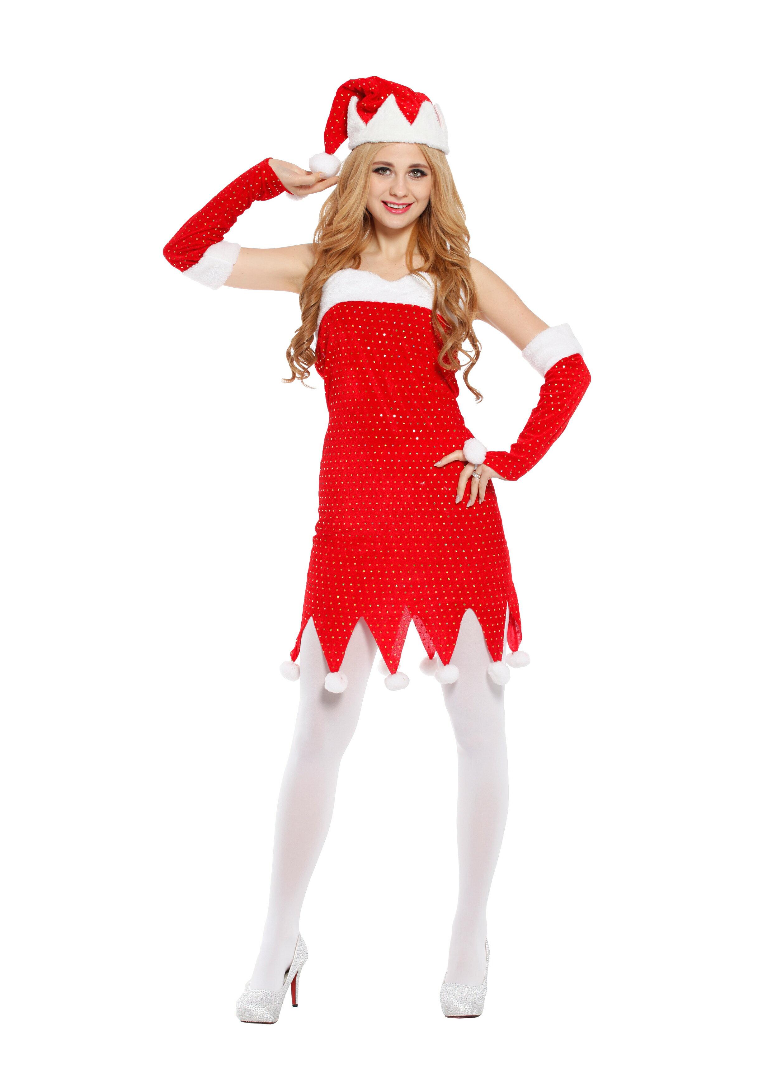 X射線~X380026~ 俏麗聖誕公主服, 舞會 尾牙 萬聖 聖誕 大人變裝 cospla