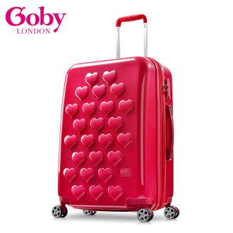 【Goby果比】Love25吋萬向輪行李箱-石榴紅 0