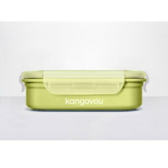 美國【Kangovou】小袋鼠不鏽鋼安全餐盒(青蘋綠) 3