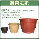 【蔬菜之家005-D103】中興8吋浮雕花盆鵝黃色、磚紅色、棕色共3色