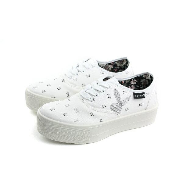 PLAYBOY 兔子 厚底休閒鞋 女鞋 白色 no912