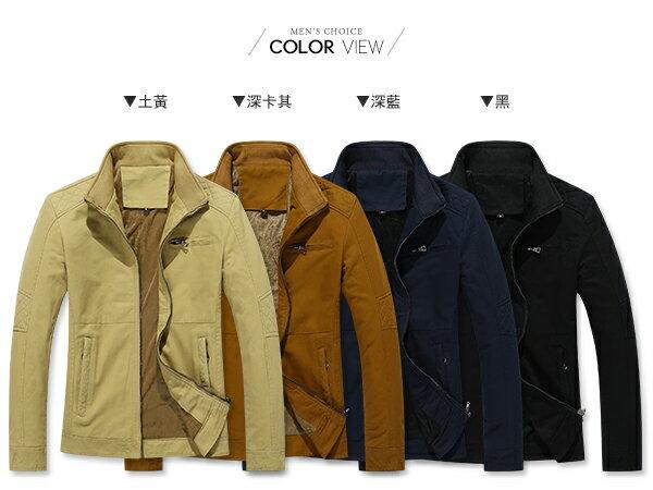 ☆BOY-2☆【NZ78003】前口袋休閒立領夾克軍裝外套 1