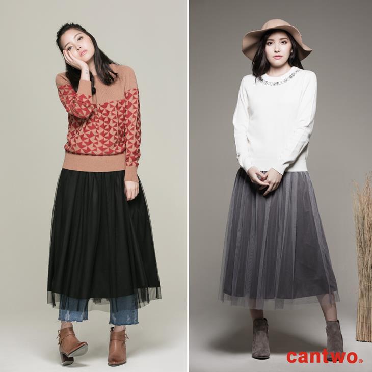 cantwo雙色長紗裙(共二色) 6