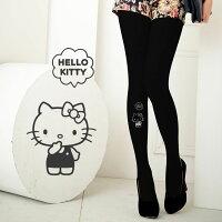 凱蒂貓週邊商品推薦到Meinas美娜斯 對話灰色款Hello Kitty褲襪黑