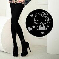 凱蒂貓週邊商品推薦到Meinas美娜斯 時尚灰款Hello Kitty褲襪黑