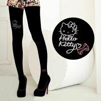 凱蒂貓週邊商品推薦到Meinas美娜斯 Hello Kitty可愛粉紅蝴蝶結褲襪黑