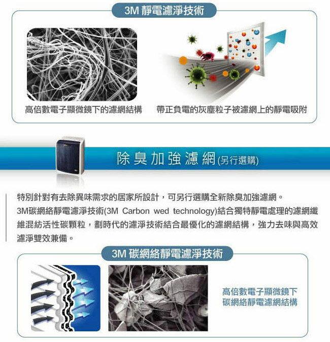 【3M】 淨呼吸極淨型6坪空氣清淨機FA-T10AB專用濾網 (T10AB-F) 3