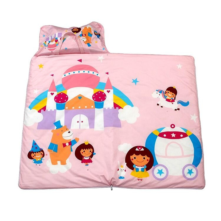 3M 新絲舒眠兒童午安被-睡袋(公主城堡)+午安被胎冬季用- 2