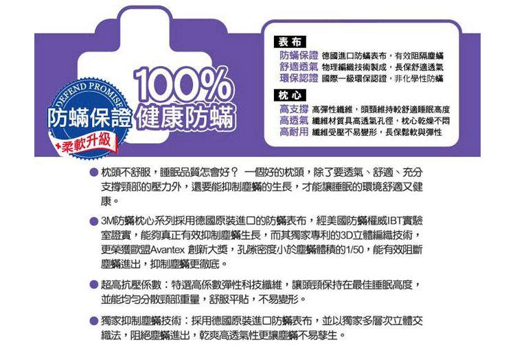 3M 竹碳纖維防蹣枕頭(加厚竹炭型) 兩入組 2