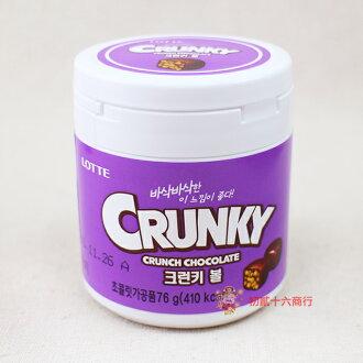 【0216零食會社】LOTTE Crunky巧克力球76g