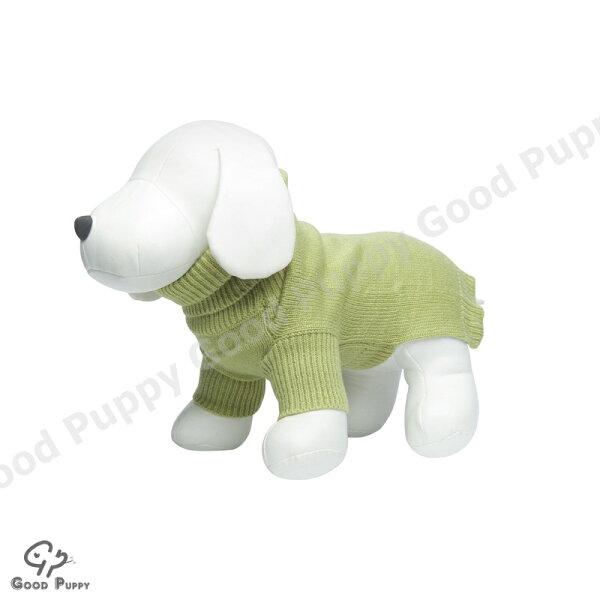 【Good Puppy】寵物禦寒衣物-MIT犬貓套頭毛衣.秋冬保暖必備服飾.柔軟舒適-S.M.L(綠色)