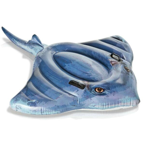 歐美 魟魚造型充氣水上坐騎玩具 泳圈 浮床