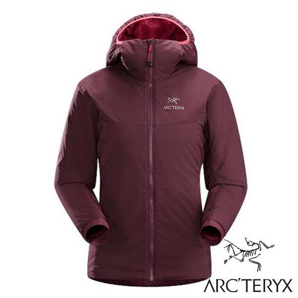 ARC'TERYX始祖鳥 連帽保暖外套 女 櫻桃酒 14664