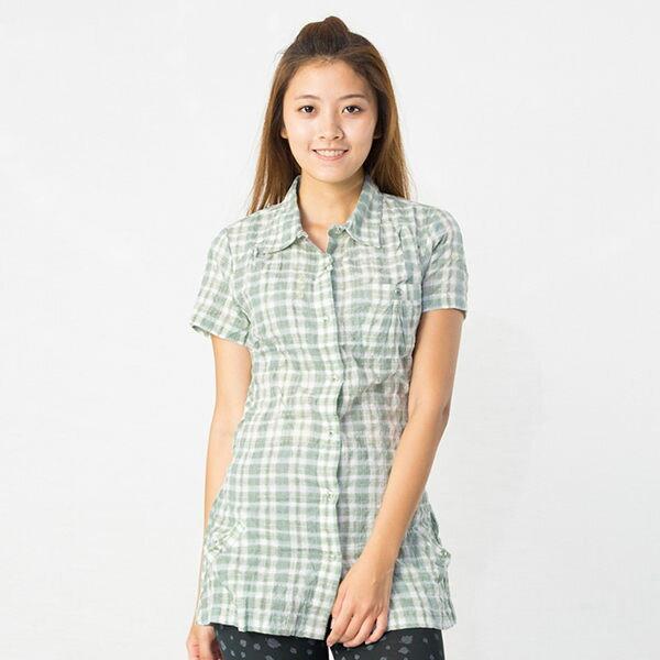 【桃源戶外】Lafuma─LFV8915女TILPA TUNIQUE長版短袖POLO衫『霧綠』