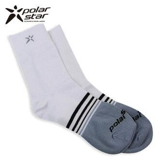 【桃源戶外】Polarstar 男排汗快乾休閒襪 P14515 『白』※台灣製造MIT※