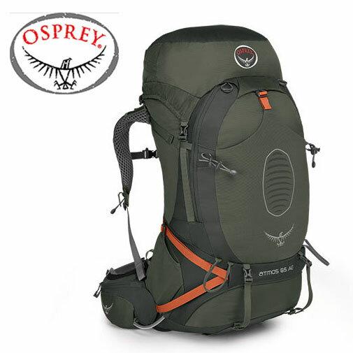 【美國 OSPREY】Atmos AG™ 50L 登山背包 015250 朱紅色 綠 灰 男版-M