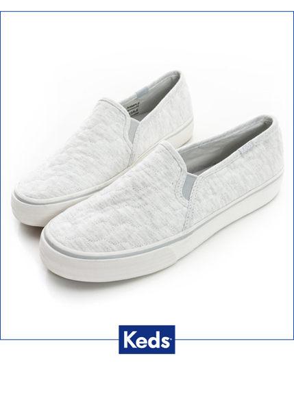 Keds 復古運動厚底休閒便鞋-淺灰(限量) 套入式│懶人鞋│平底鞋│ 0